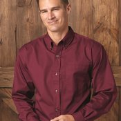 Long Sleeve Stain-Resistant Twill Shirt