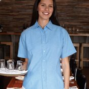 Women's Short Sleeve Stain Resistant Oxford Shirt