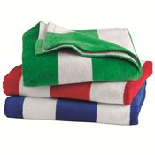 Cabana Stripe Velour Beach Towel