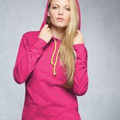 Ladies' Lightweight Long Sleeve Hooded T-Shirt