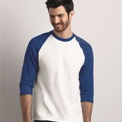 Heavy Cotton Three-Quarter Raglan Sleeve T-Shirt