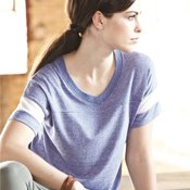 Women's Eco-Jersey Powder Puff V-Neck Tee