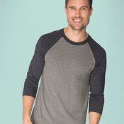 Unisex Tri-Blend Three-Quarter Sleeve Raglan Tee
