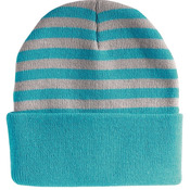 "12"" Striped Knit Beanie"