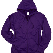 100% Polyester Fleece Full-Zip Hooded Sweatshirt