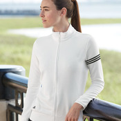 Ladies' ClimaLite® 3-Stripes French Terry Full-Zip Jacket
