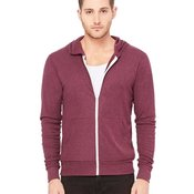 Triblend Unisex Lightweight Hooded Full-Zip T-Shirt
